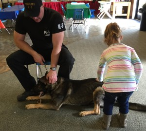 Police Canine visit 0316
